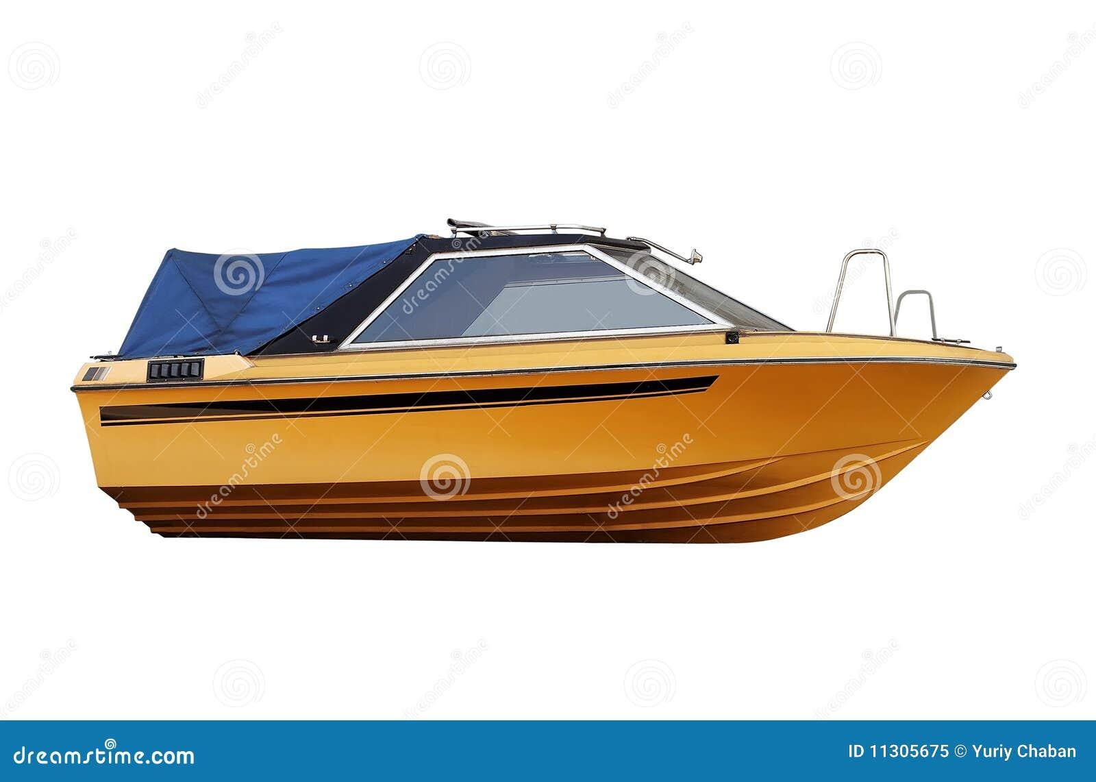 Färben Sie Fischerboot gelb