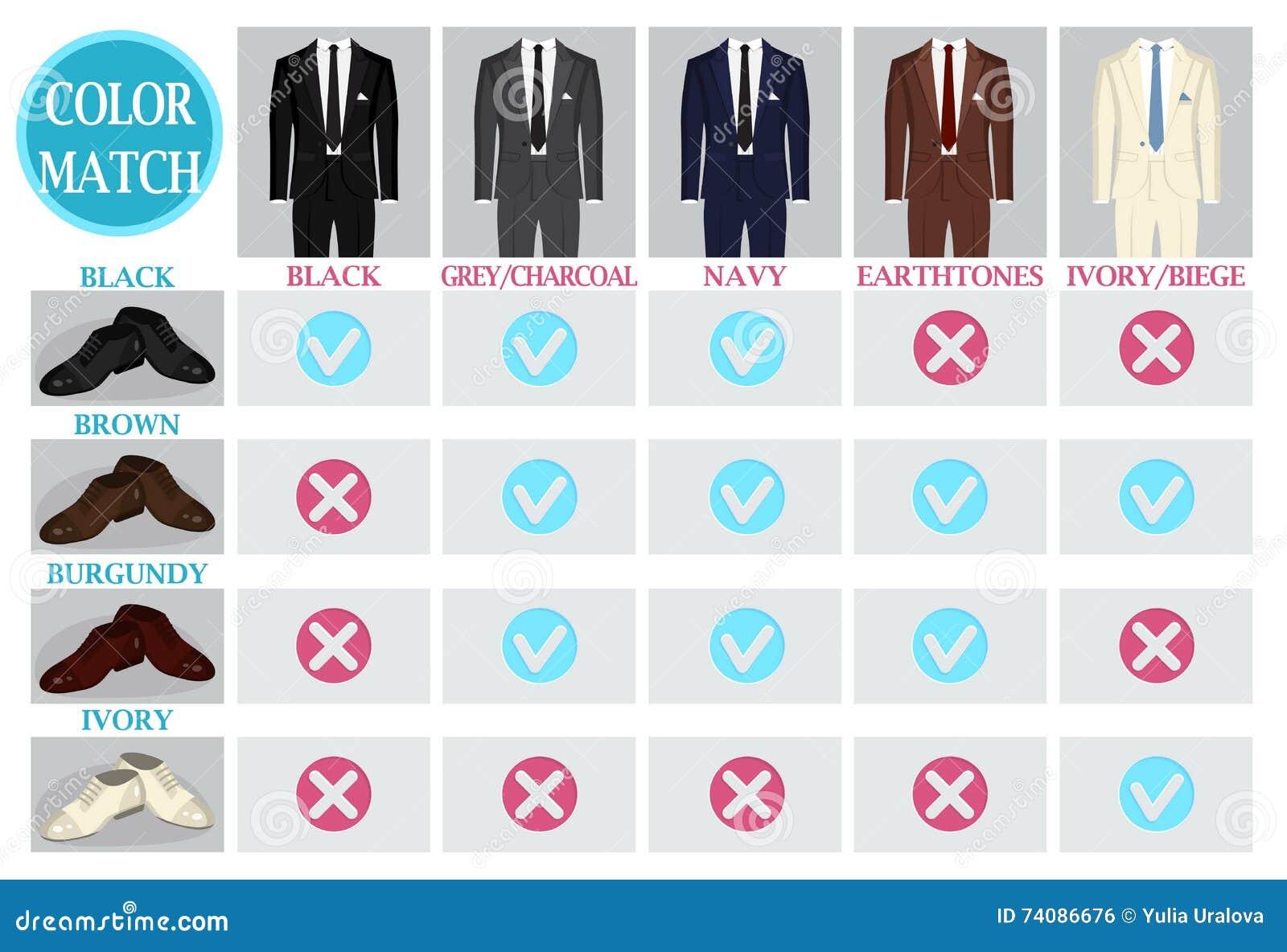 Färben Sie Mischungsmatchführer für Schuhe und Klage