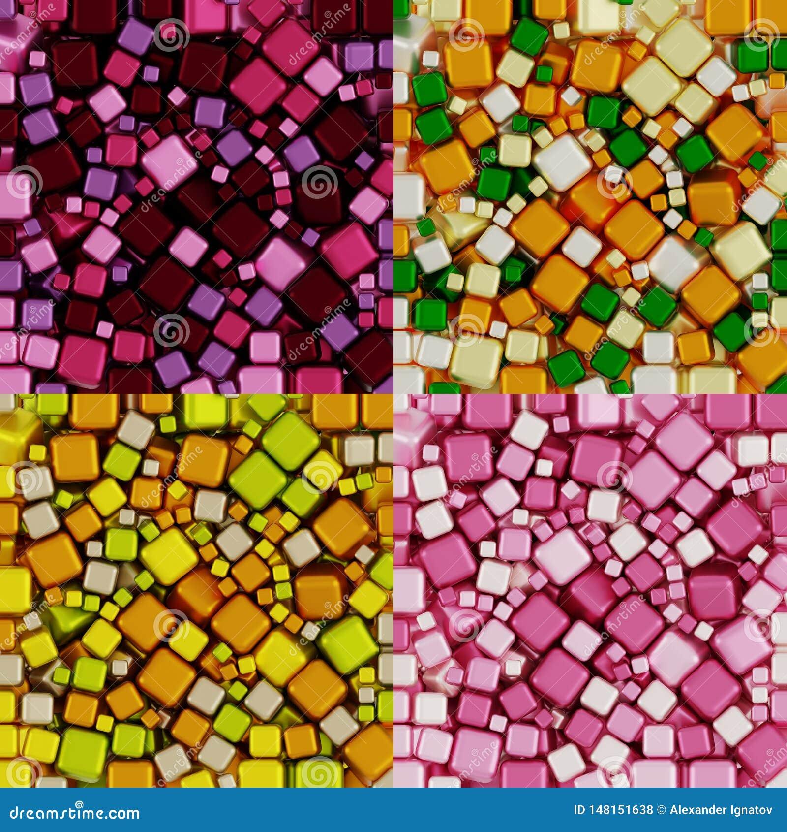 Färbt rosa Creme Trauben-Purpur-orange Zitronen-Birnen-Wood Greens Packpapier-Nicht-nahtloses Muster, Illustrations-Collage