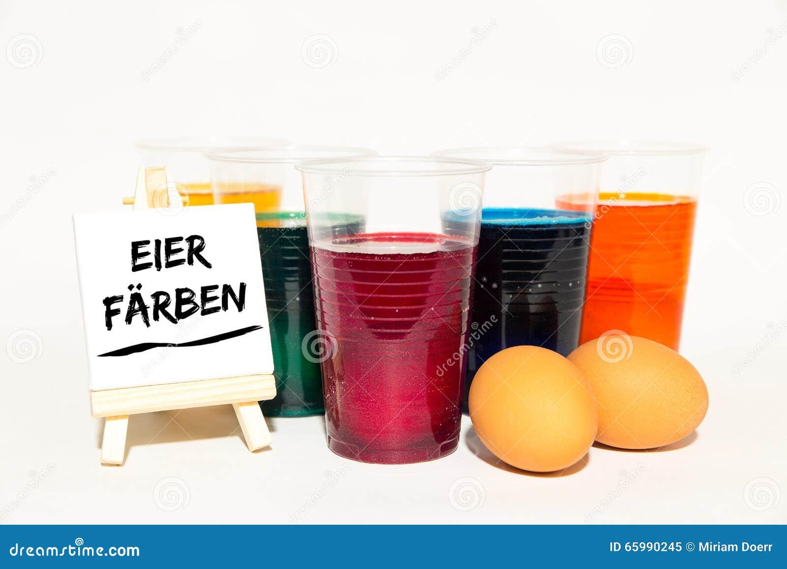 Färbung, Eier, Ostern, Segeltuch Mit Text Stockbild - Bild von ...