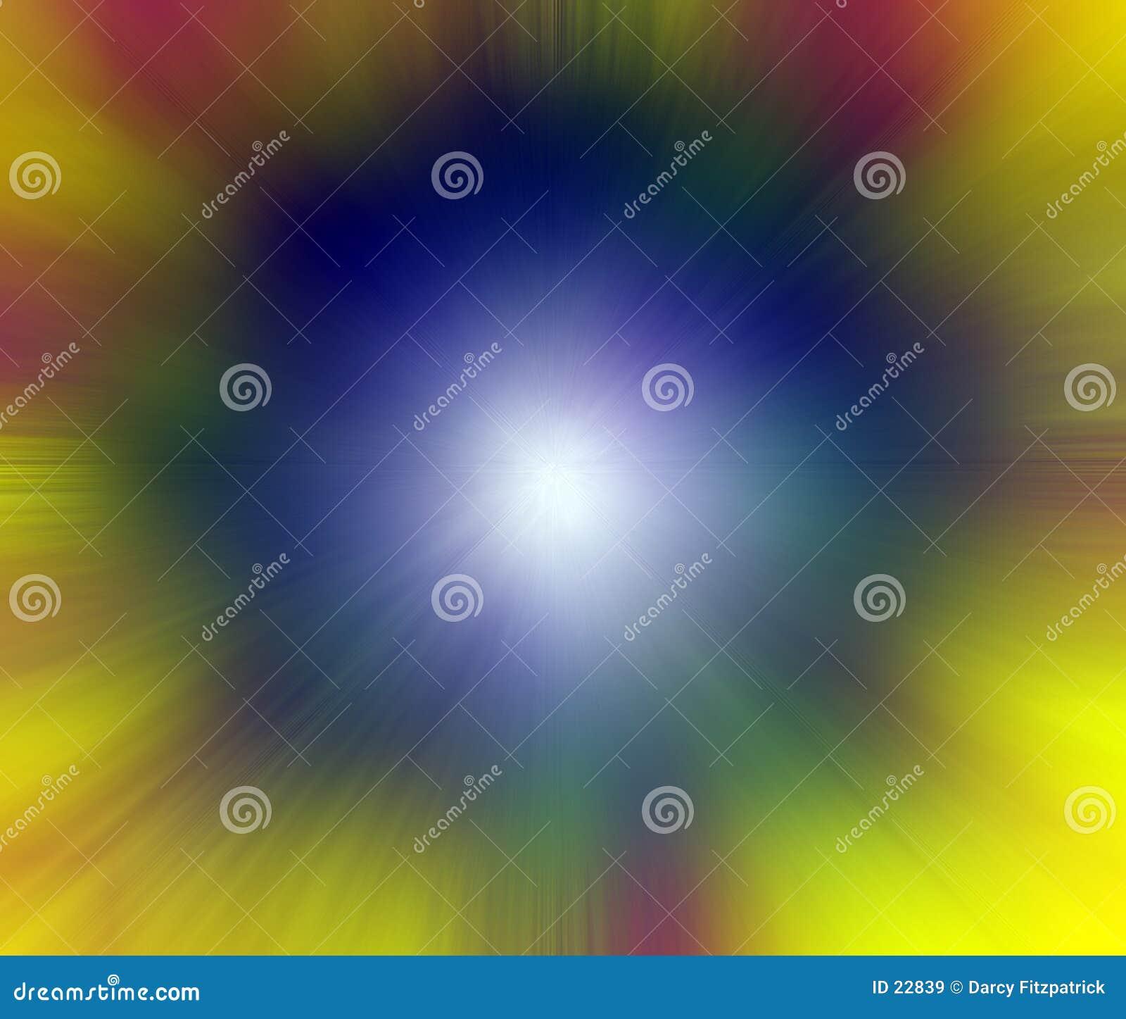 Färg som exploderar ljus punkt