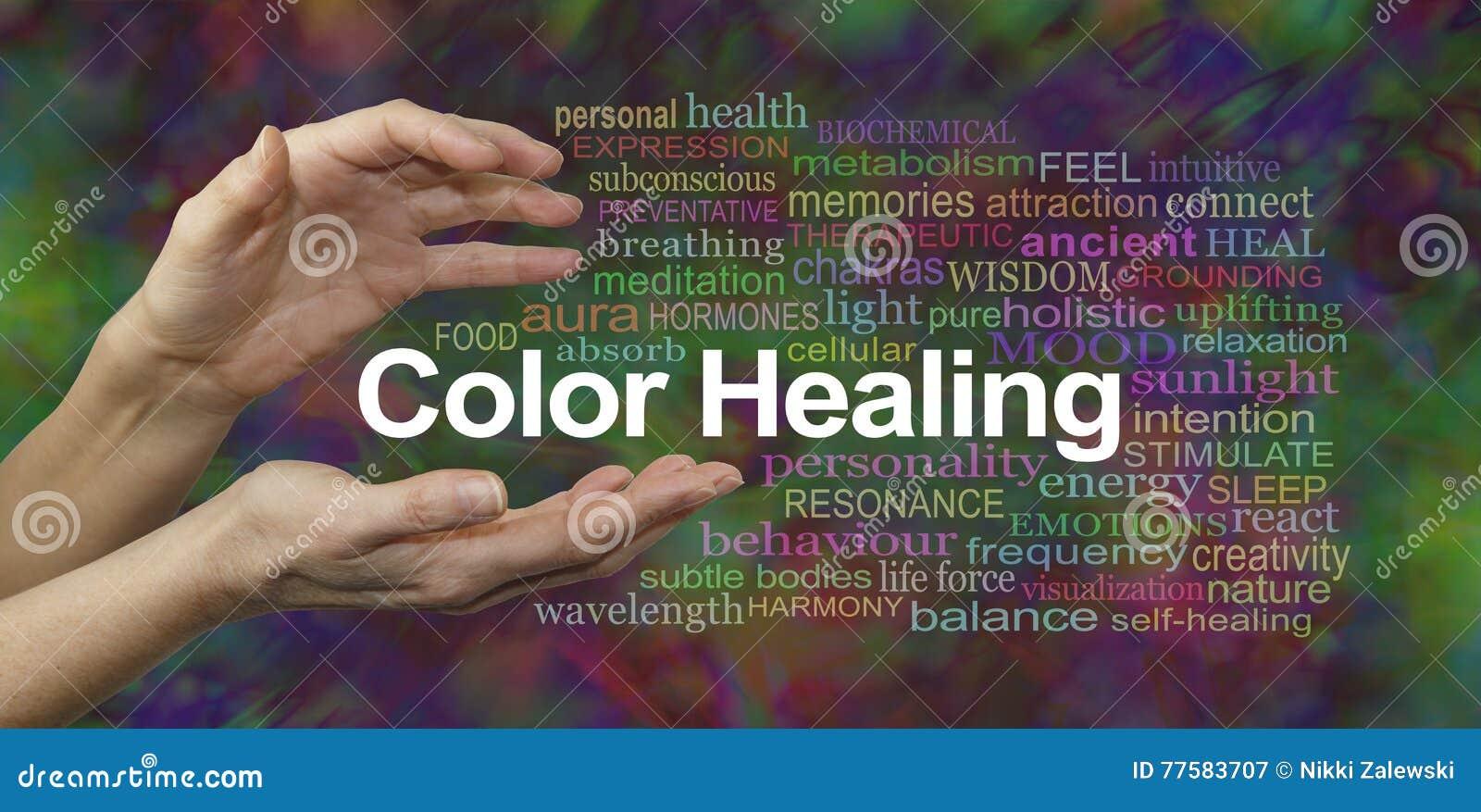 Färg som läker terapiWebsitebanret
