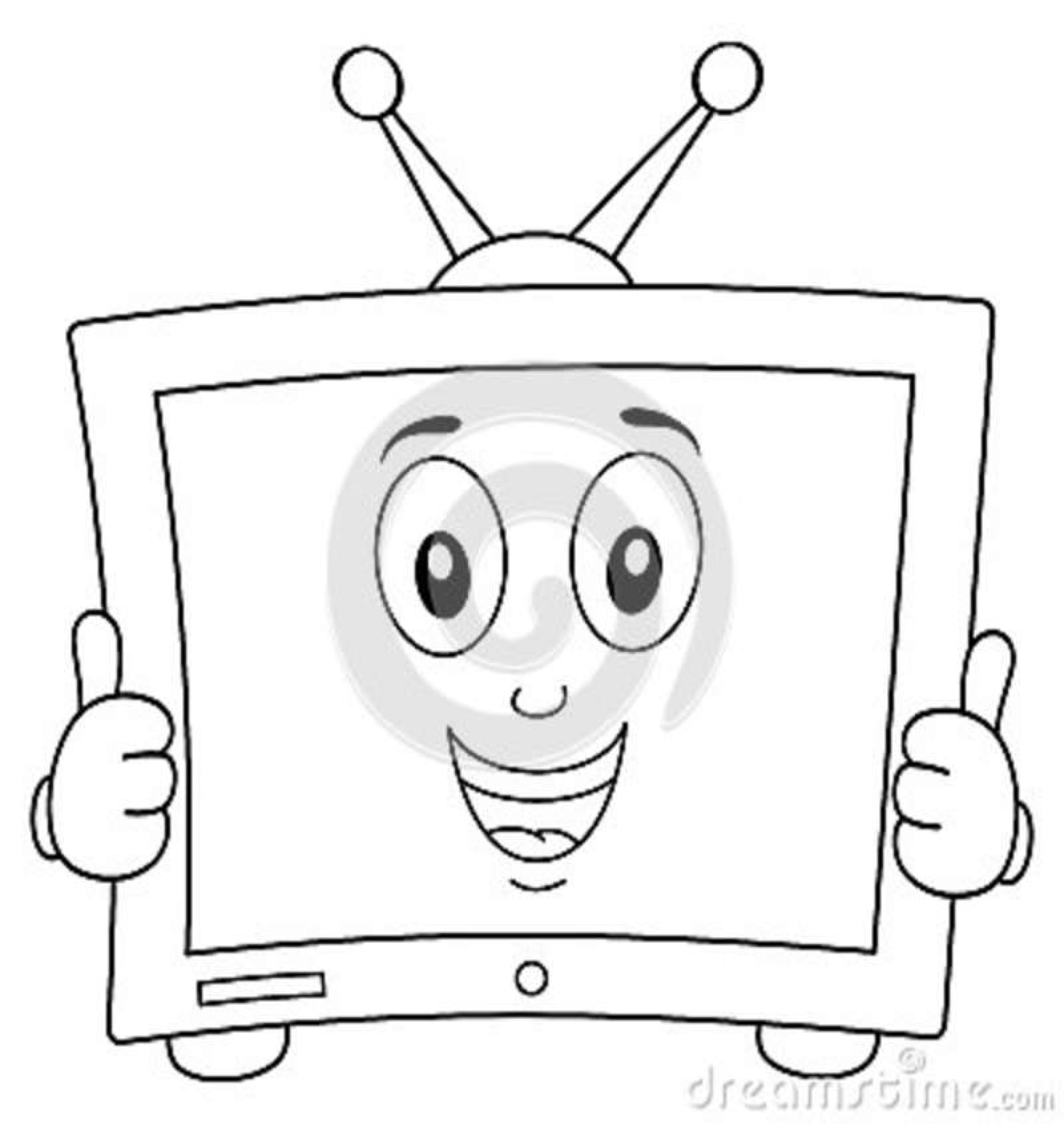 Färga det gulliga tecknad filmtelevisionteckenet