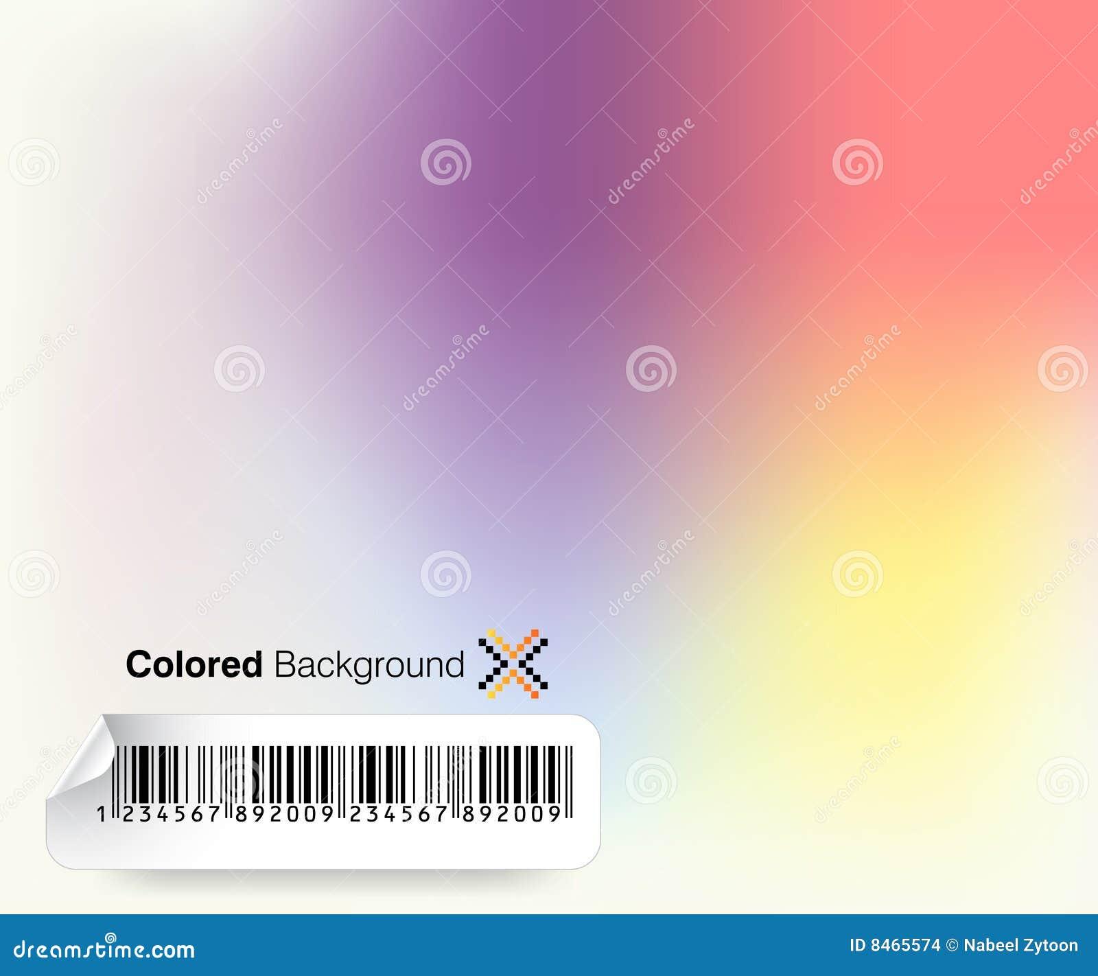 Färgad bakgrund