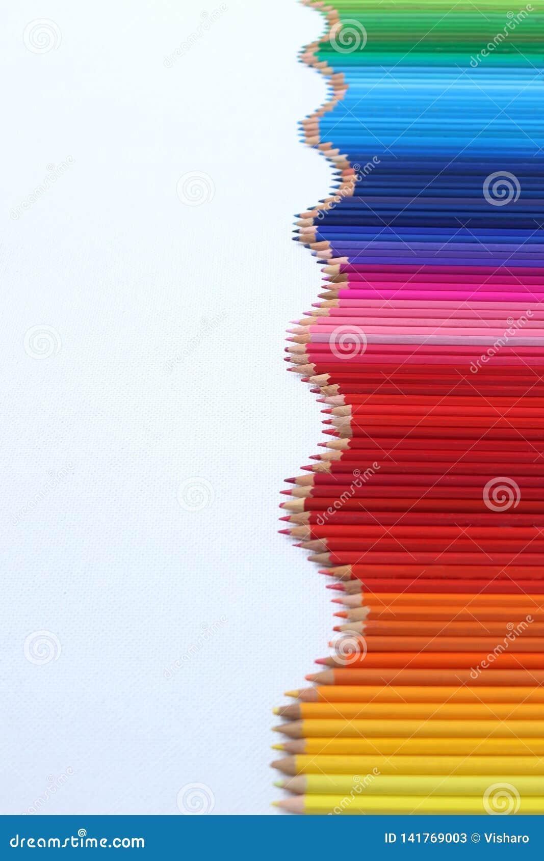 Färgad blyertspennavåg