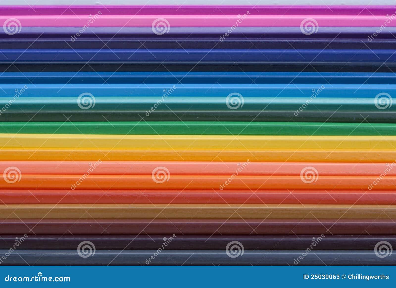 Färgade blyertspennor