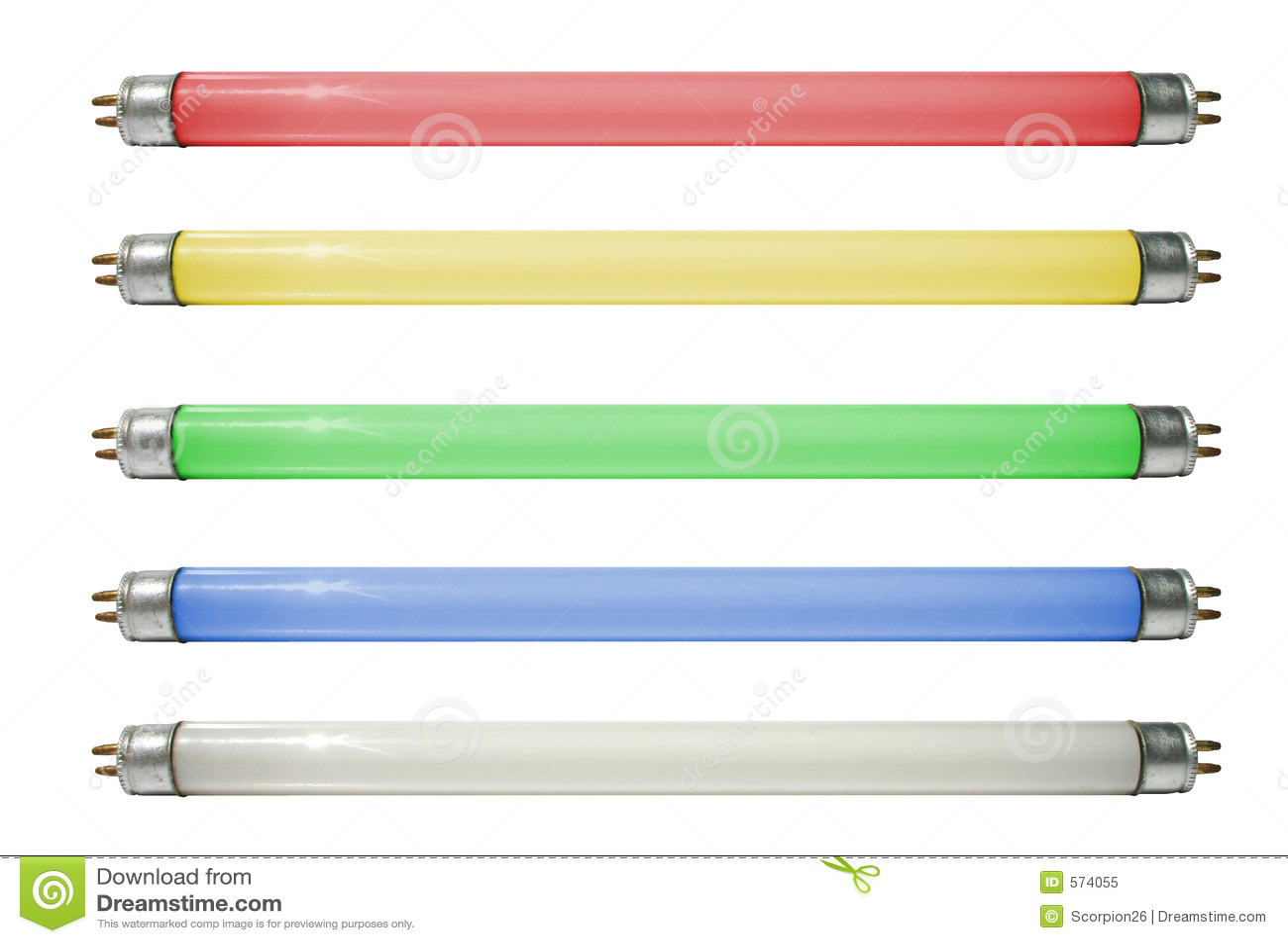 färgade lampor