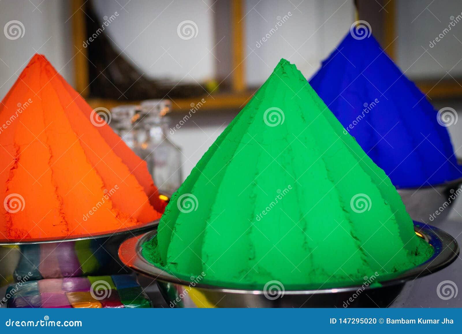 Färgar grönt och orange