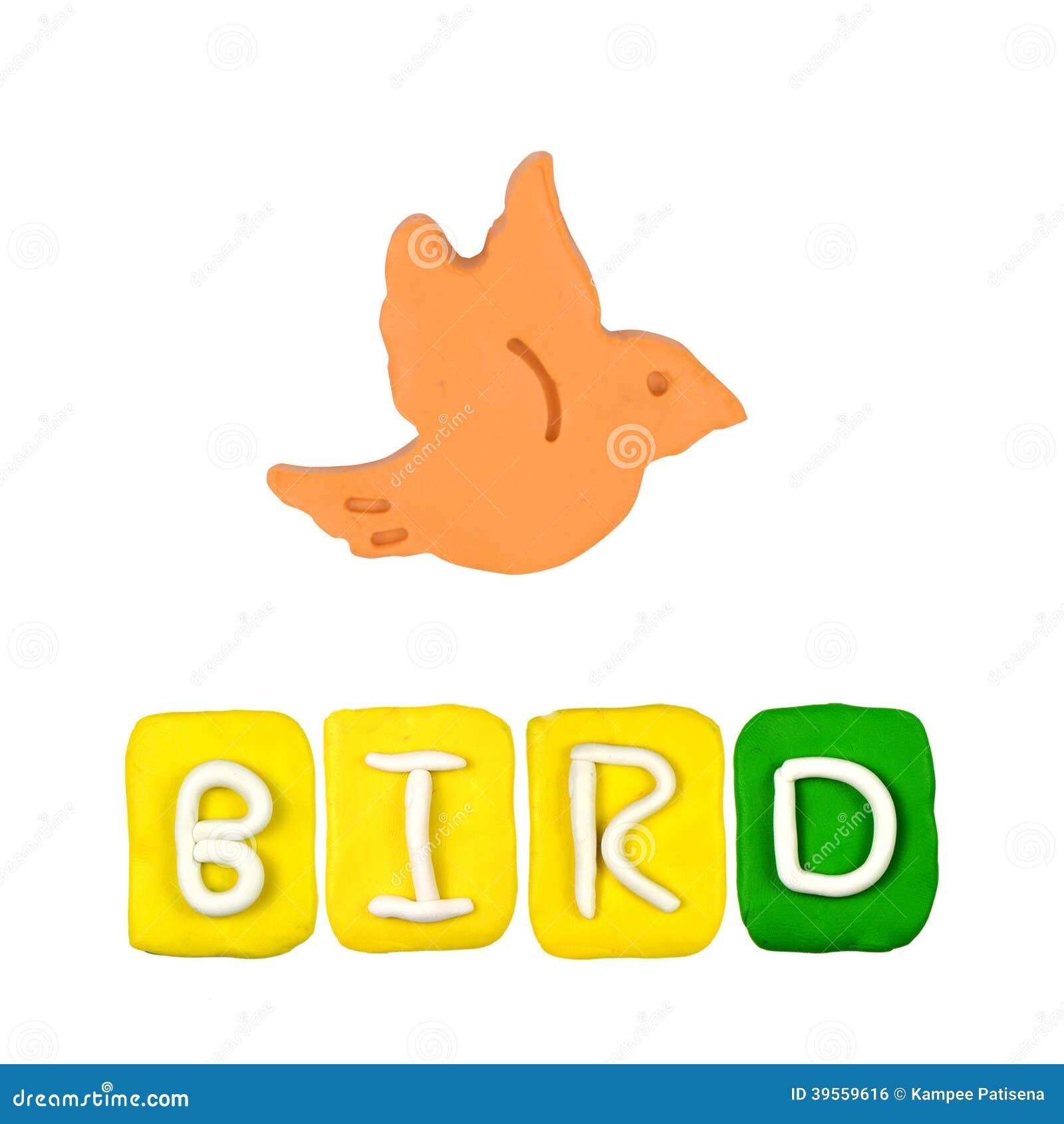 Färgbarns plasticine för fågel