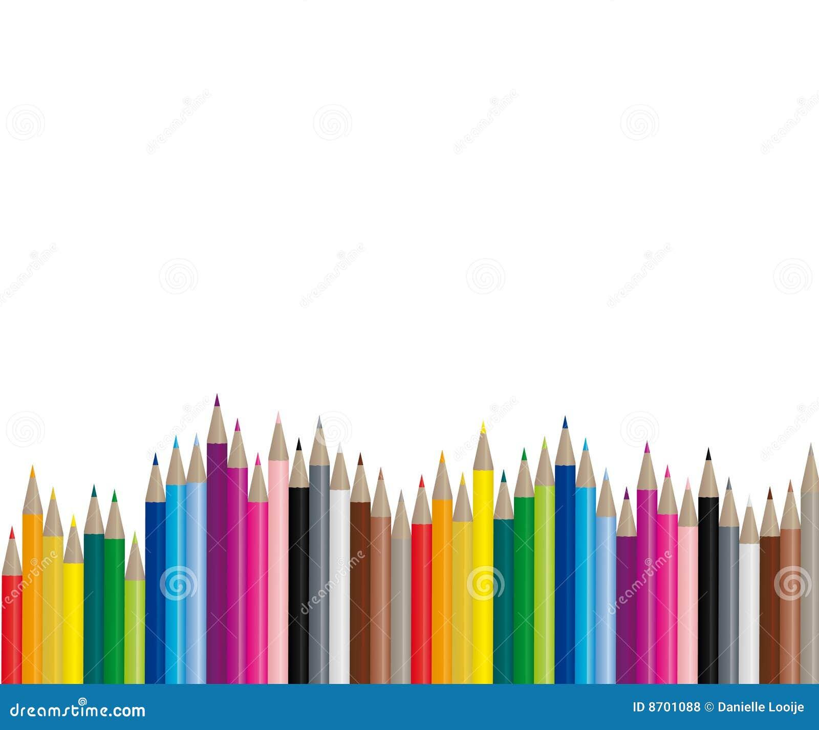 Färgbilden pencils vektorn