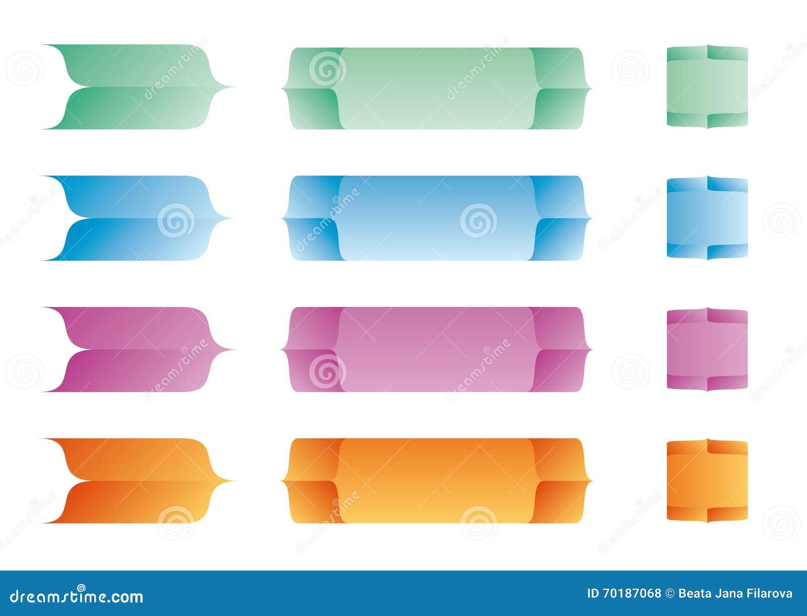 Färgetikettvektor
