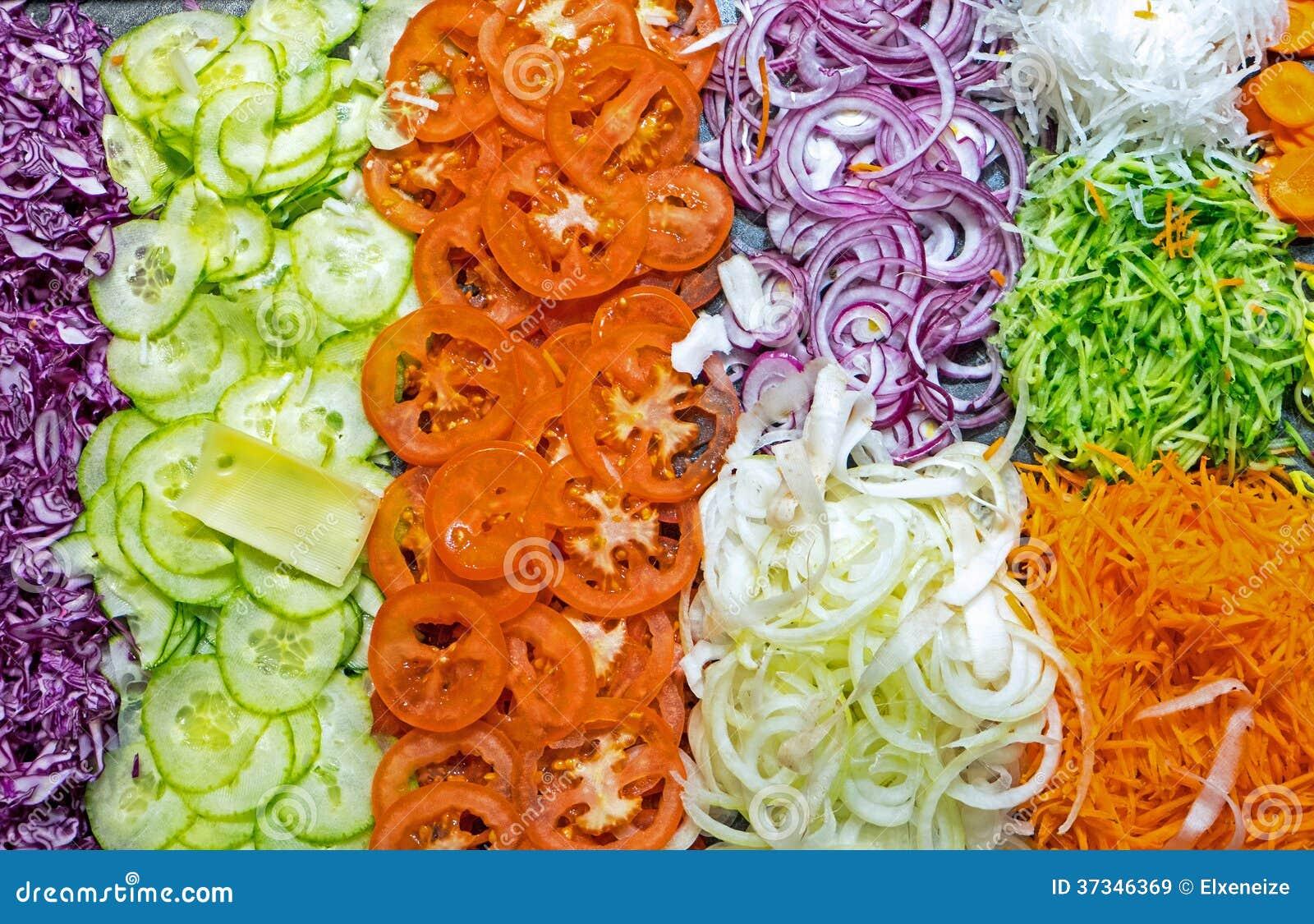 Färgglad salladbuffé