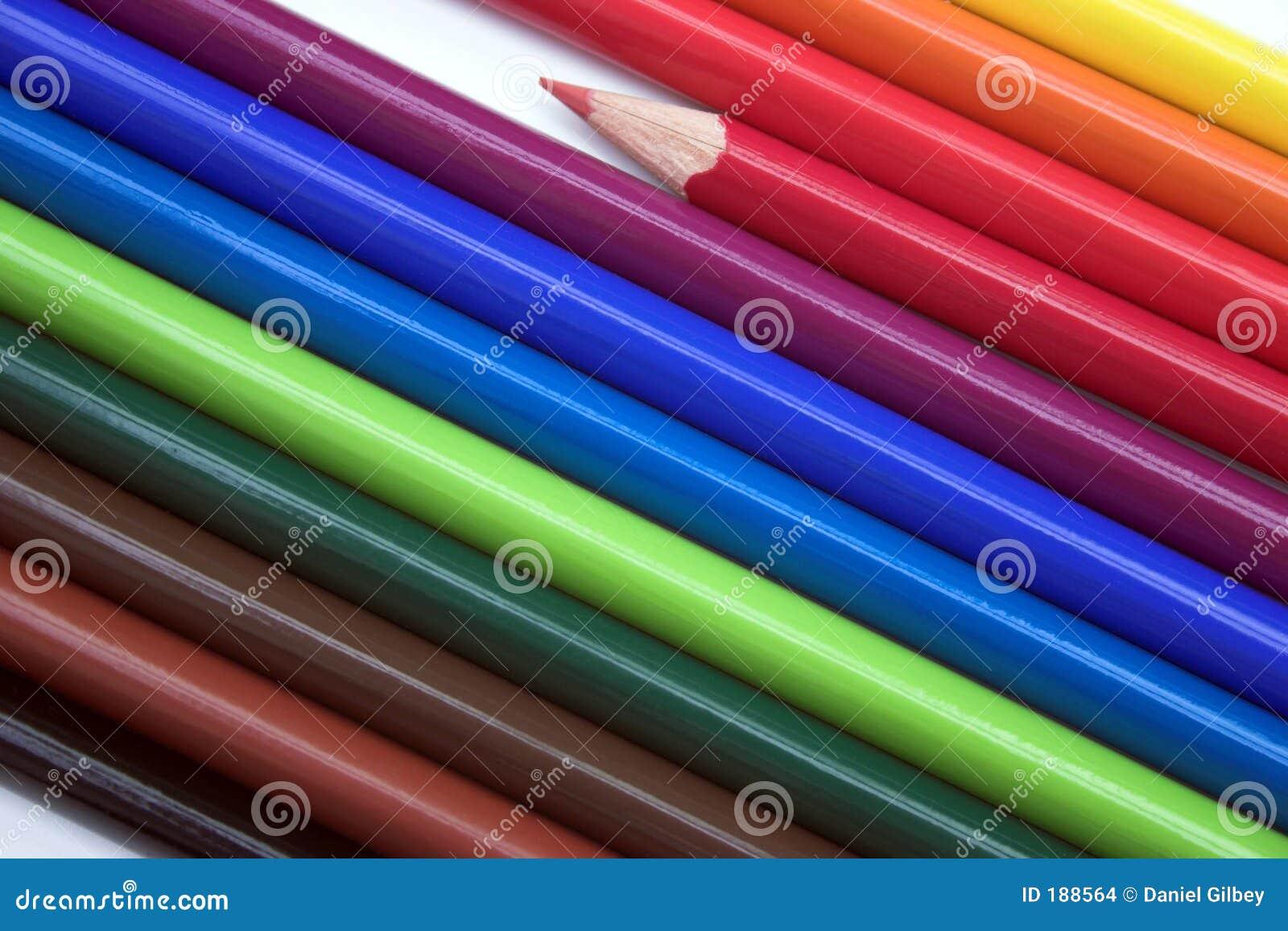 Färgglada blyertspennor