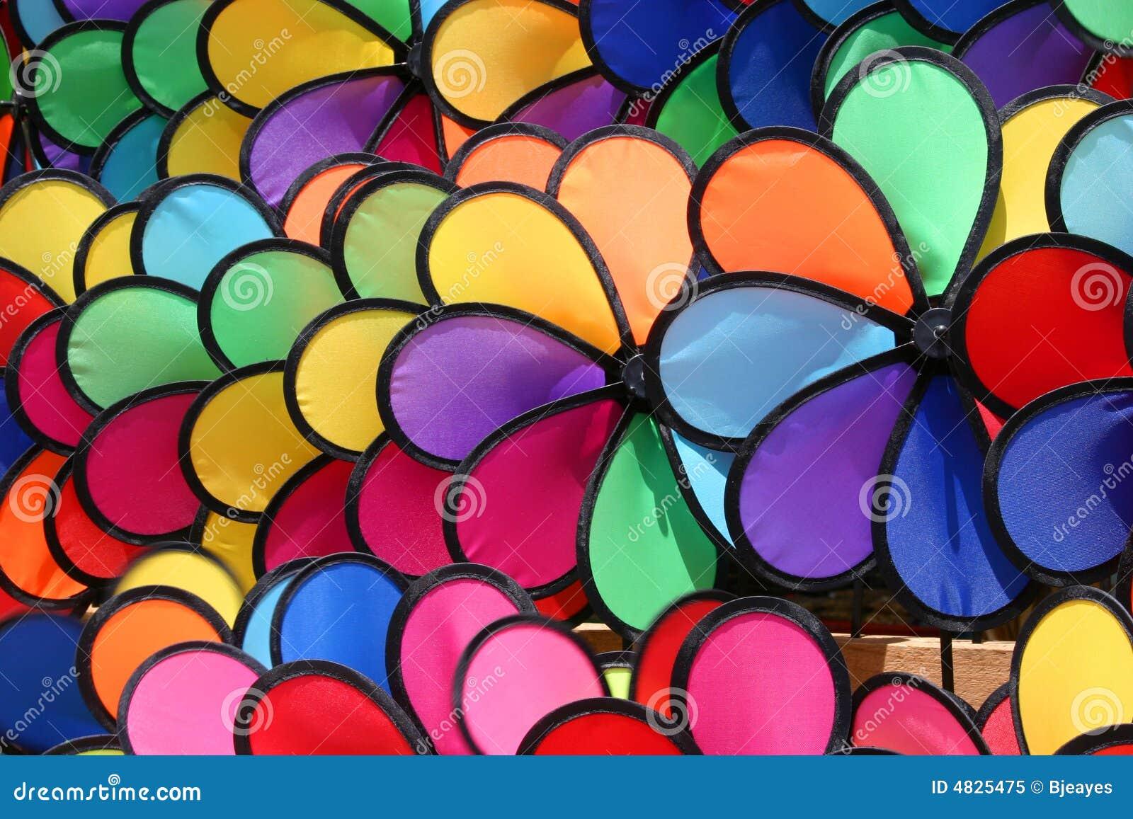 Färgglada pinwheels