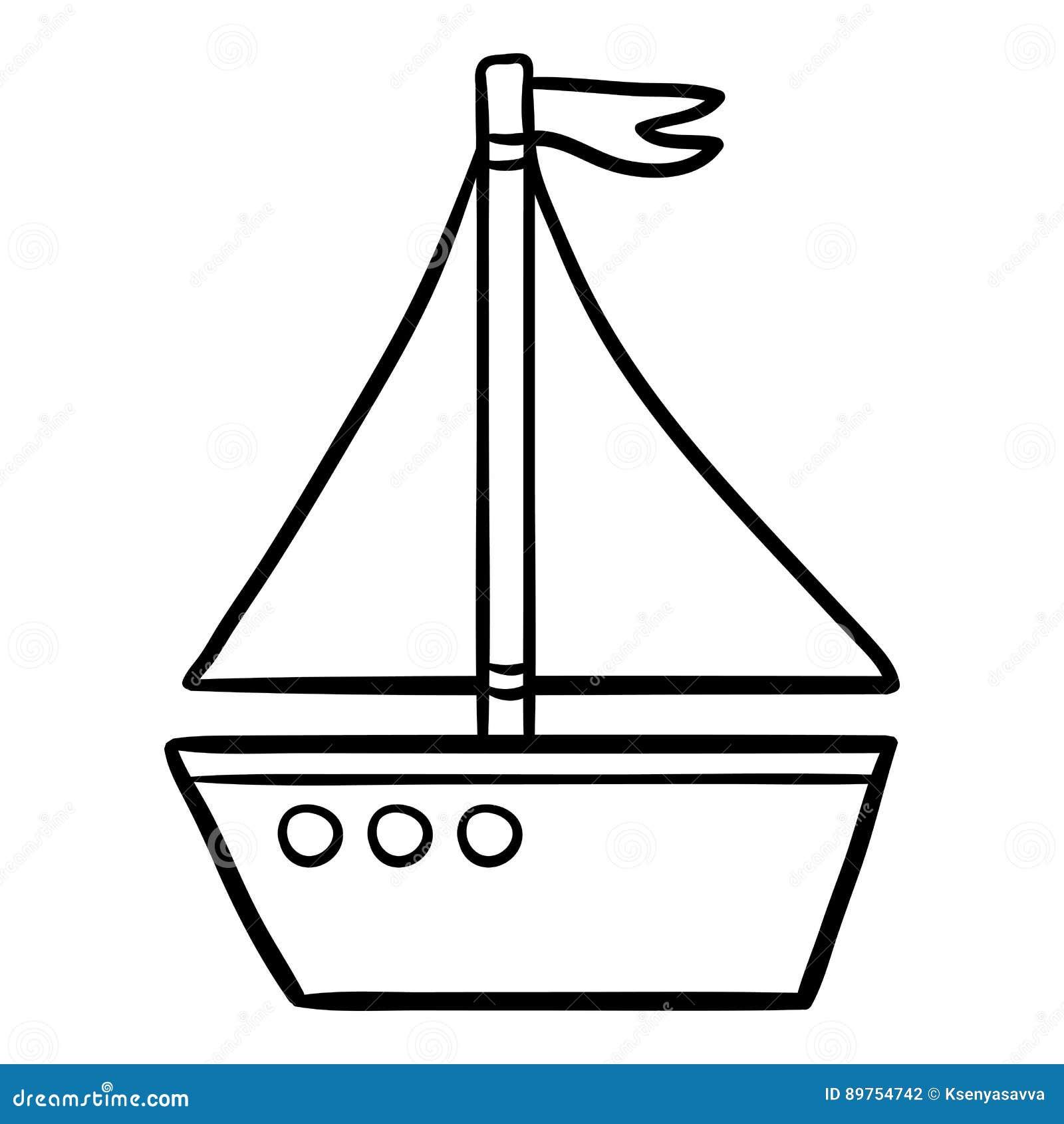 Färgläggningbok för ungar, yacht