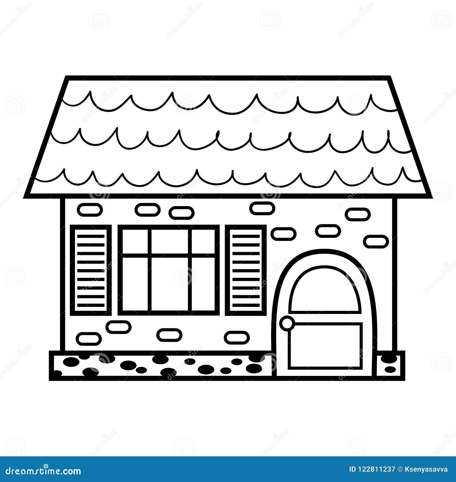 Färgläggningbok, hus