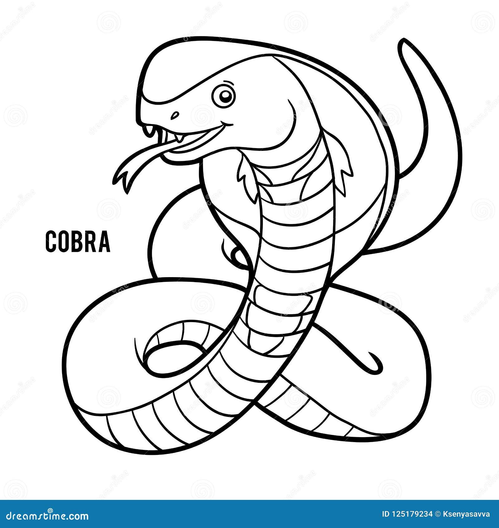 Färgläggningbok, kobra