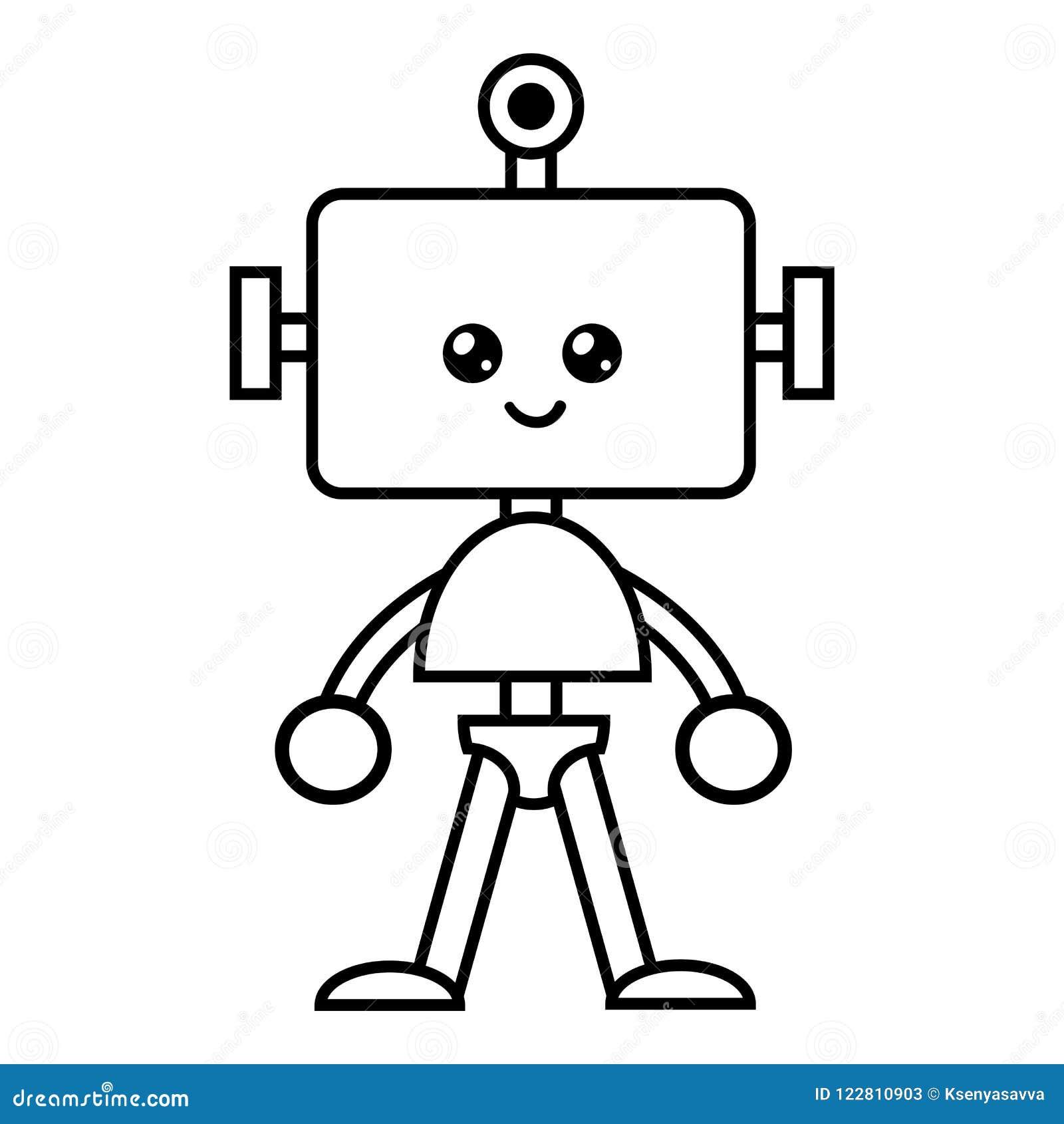 Färgläggningbok, robot