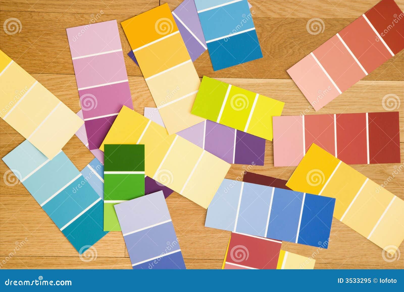 Färgmålarfärgprovkartor