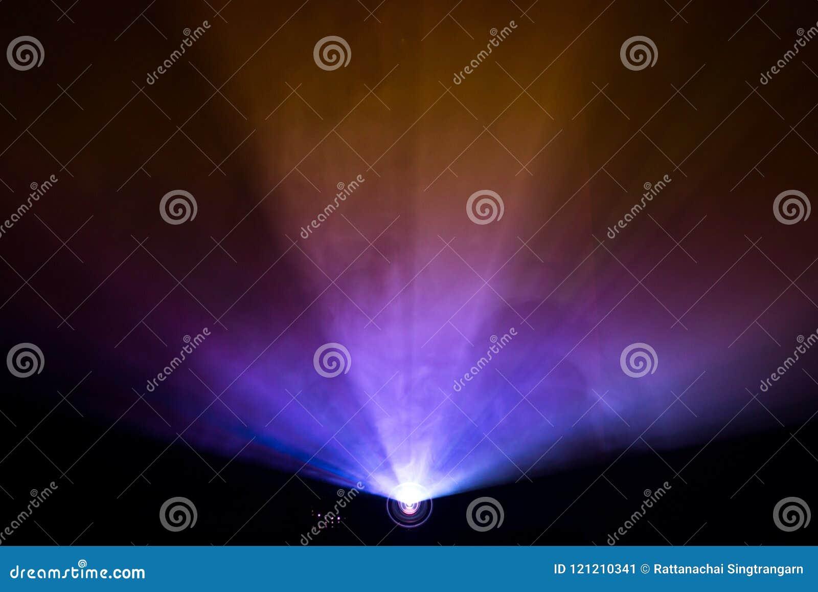 Färgrök texturerade strålkastaren, bred linsprojektor