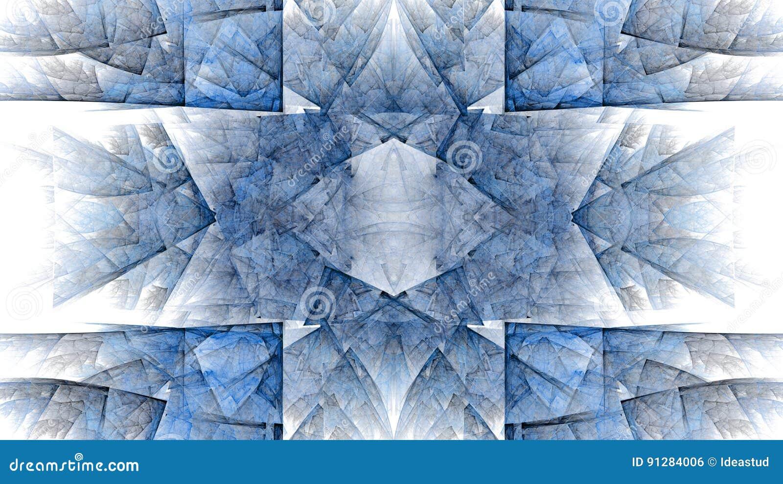 Färgrik abstrakt fractalillustration