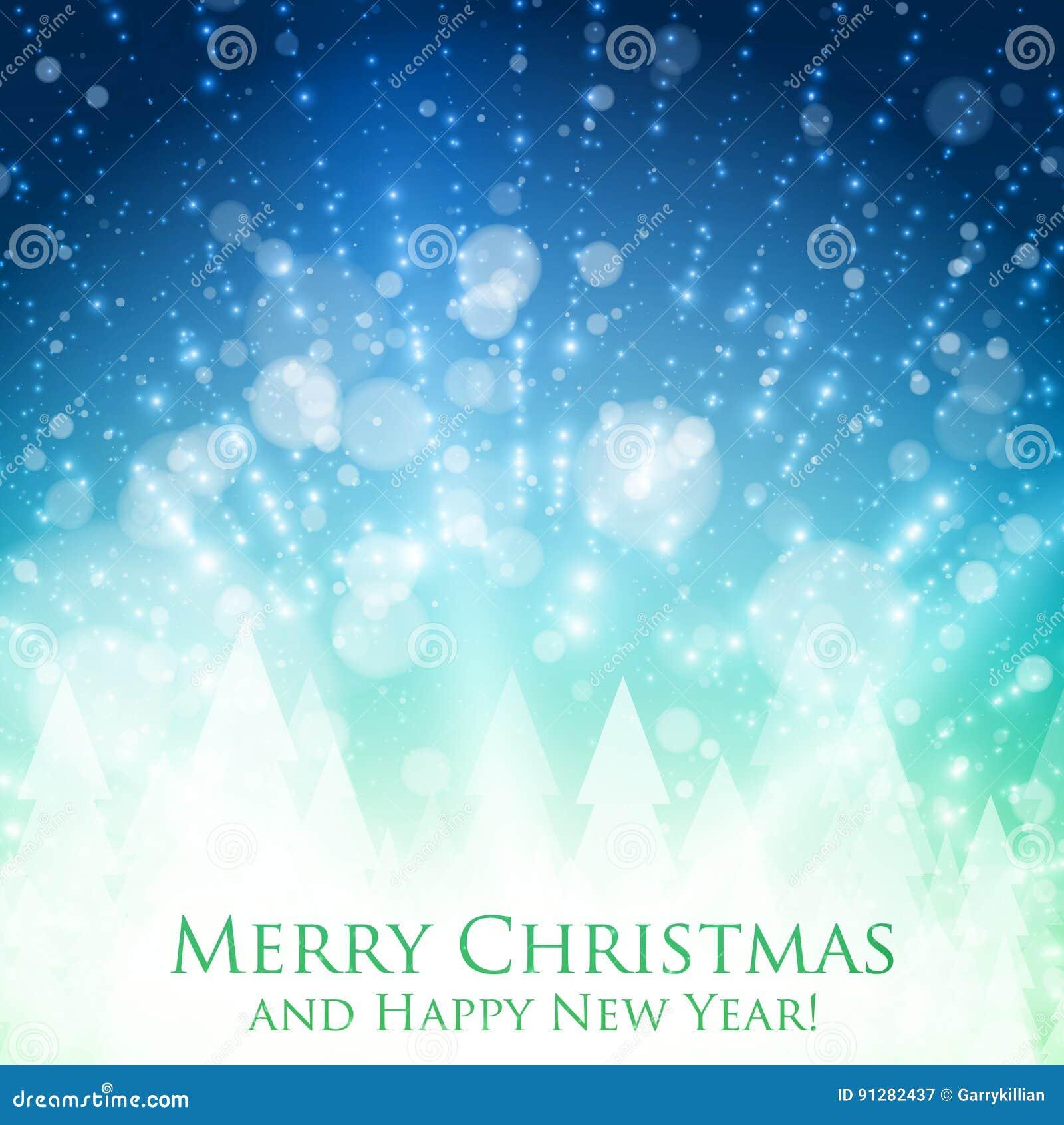 Färgrik bakgrund för glänsande jul med panelljuset och glödande partiklar Abstrakt bakgrund för lyckligt nytt år för vektor