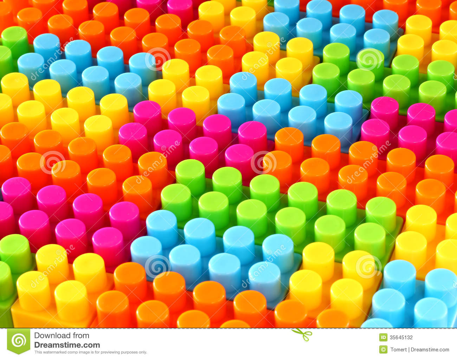 Färgrik bakgrund för leksak för barnlegotegelsten