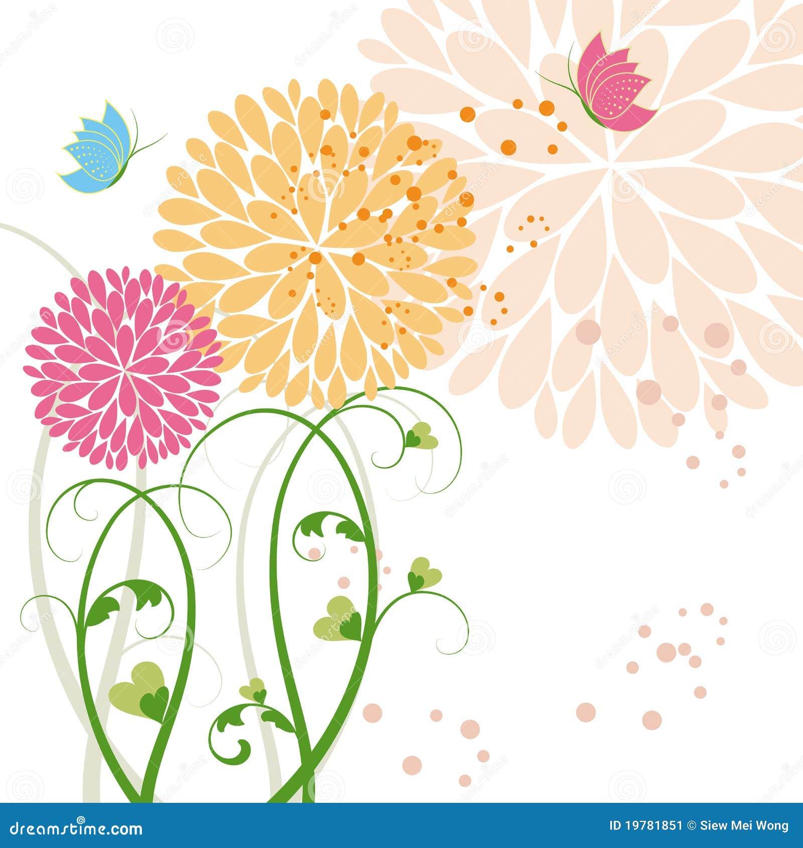 Färgrik blommaspringtime för abstrakt fjäril