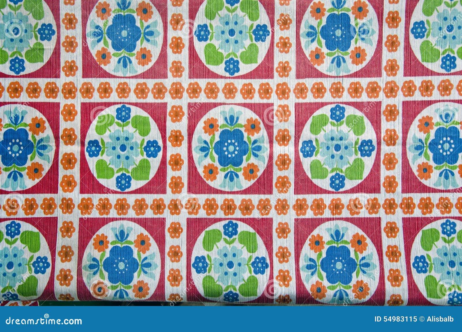 Färgrik borddukbakgrund för tappning