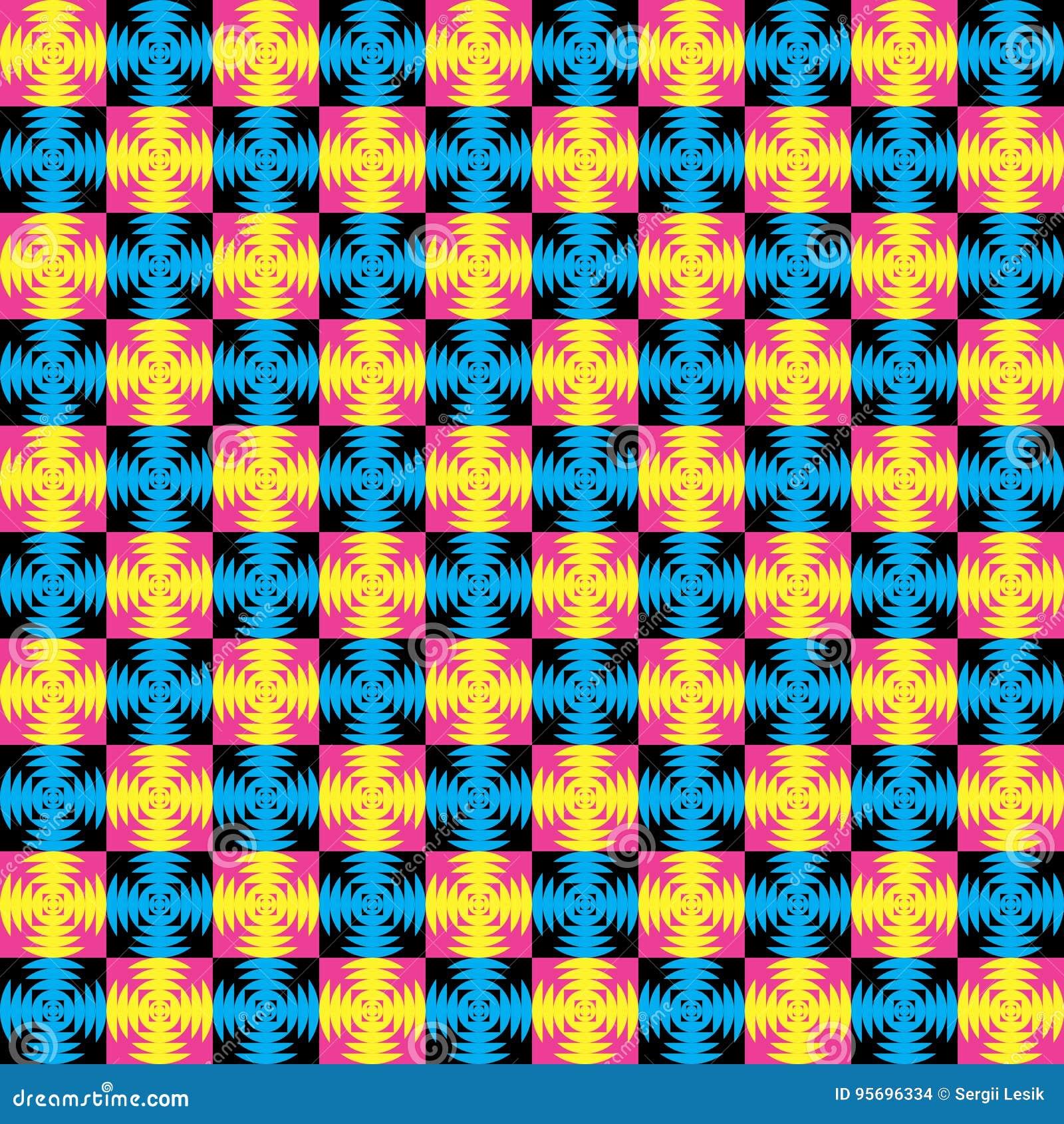 Färgrik geometrisk vektormodell i memphis stil