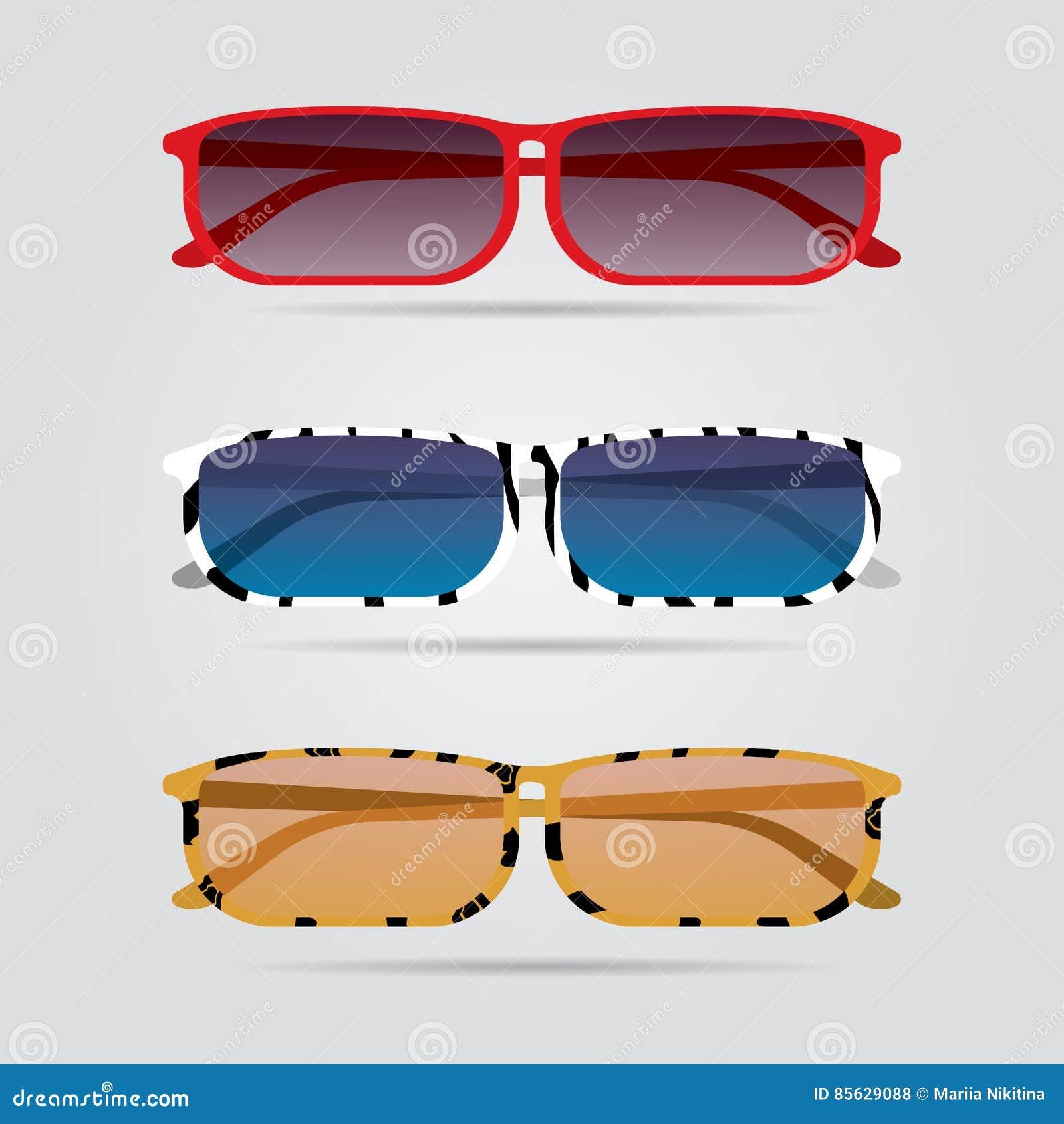 Färgrik glasögonuppsättning