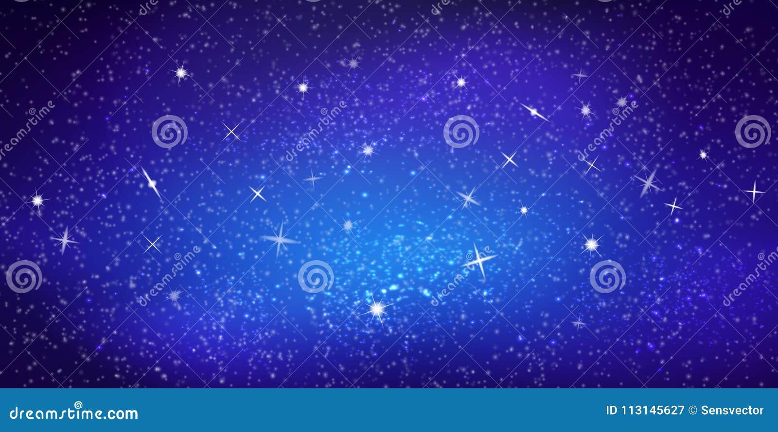 Färgrik illustration för realistisk vektor Ljus kosmisk utrymmebakgrund med stjärnor och konstellationer Interstellärt utrymme