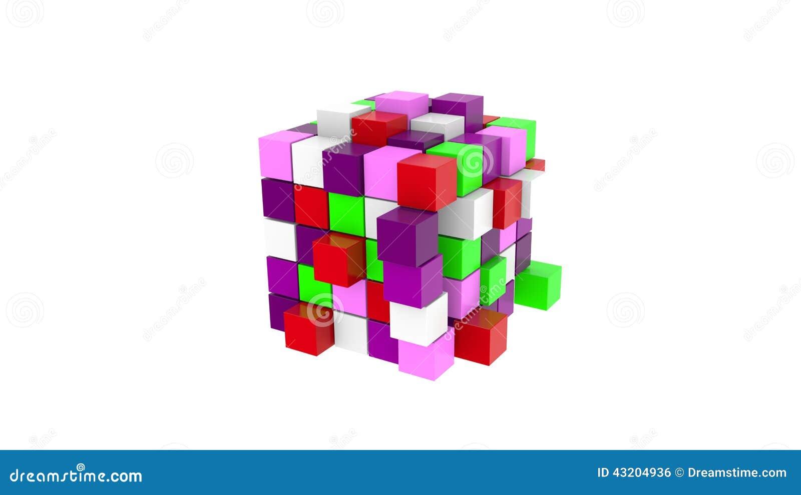 Download Färgrik Kub Av Kulöra Kuber Stock Illustrationer - Illustration av laptop, folk: 43204936