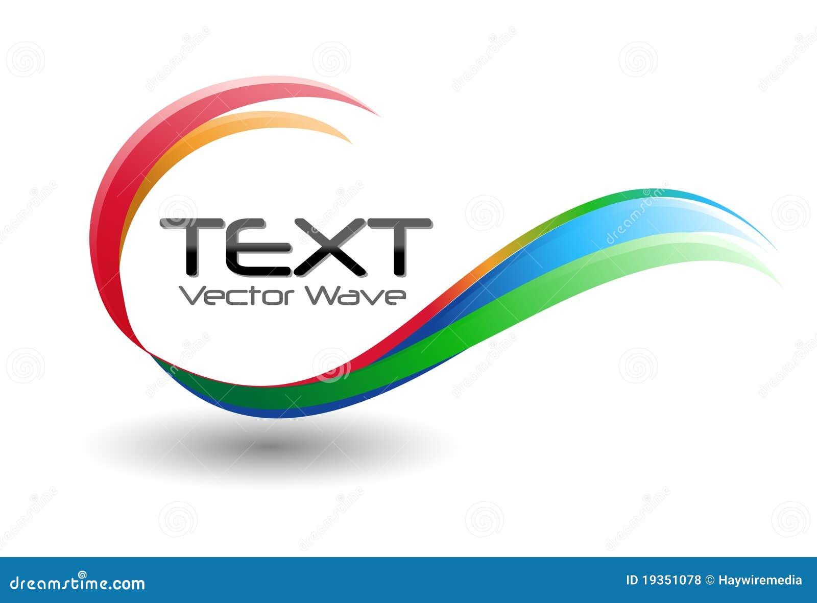 Färgrik logoswirlwave