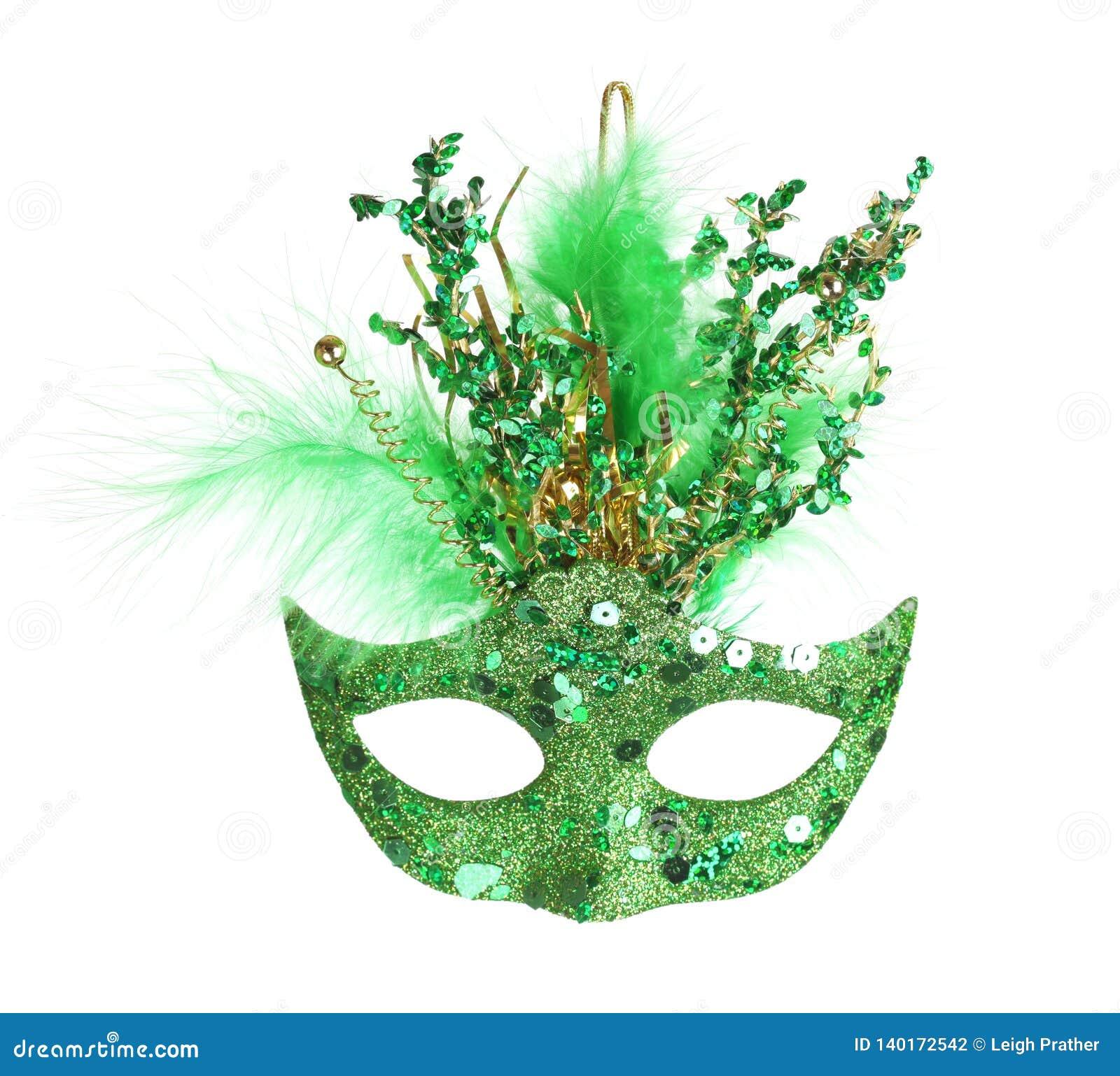 Färgrik Mardi Gras maskering som isoleras på vit