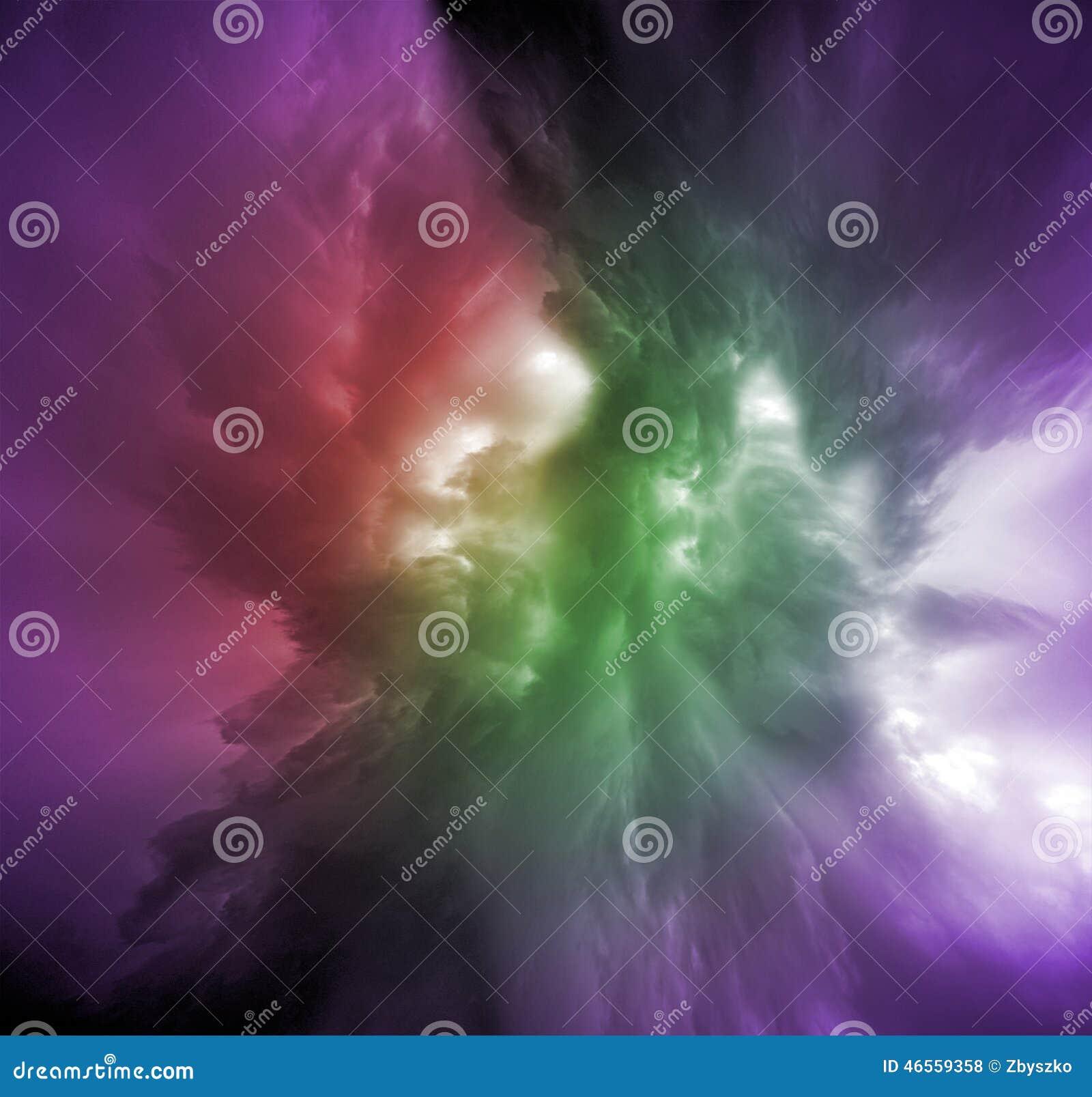 Färgrik molnvariation