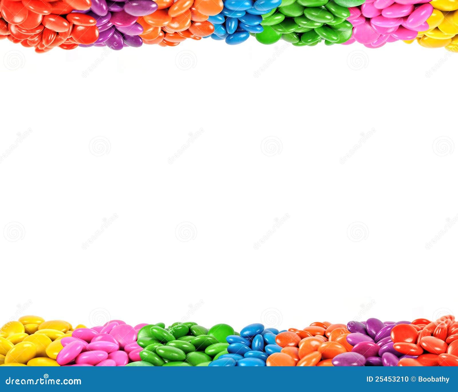 Färgrik ram för godis