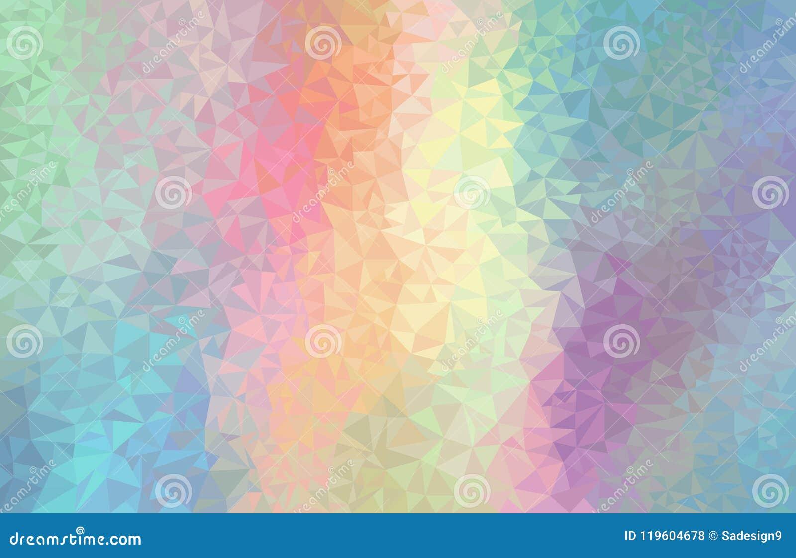 Färgrik regnbågepolygonbakgrund Futuristisk garnering för vektorgeometri