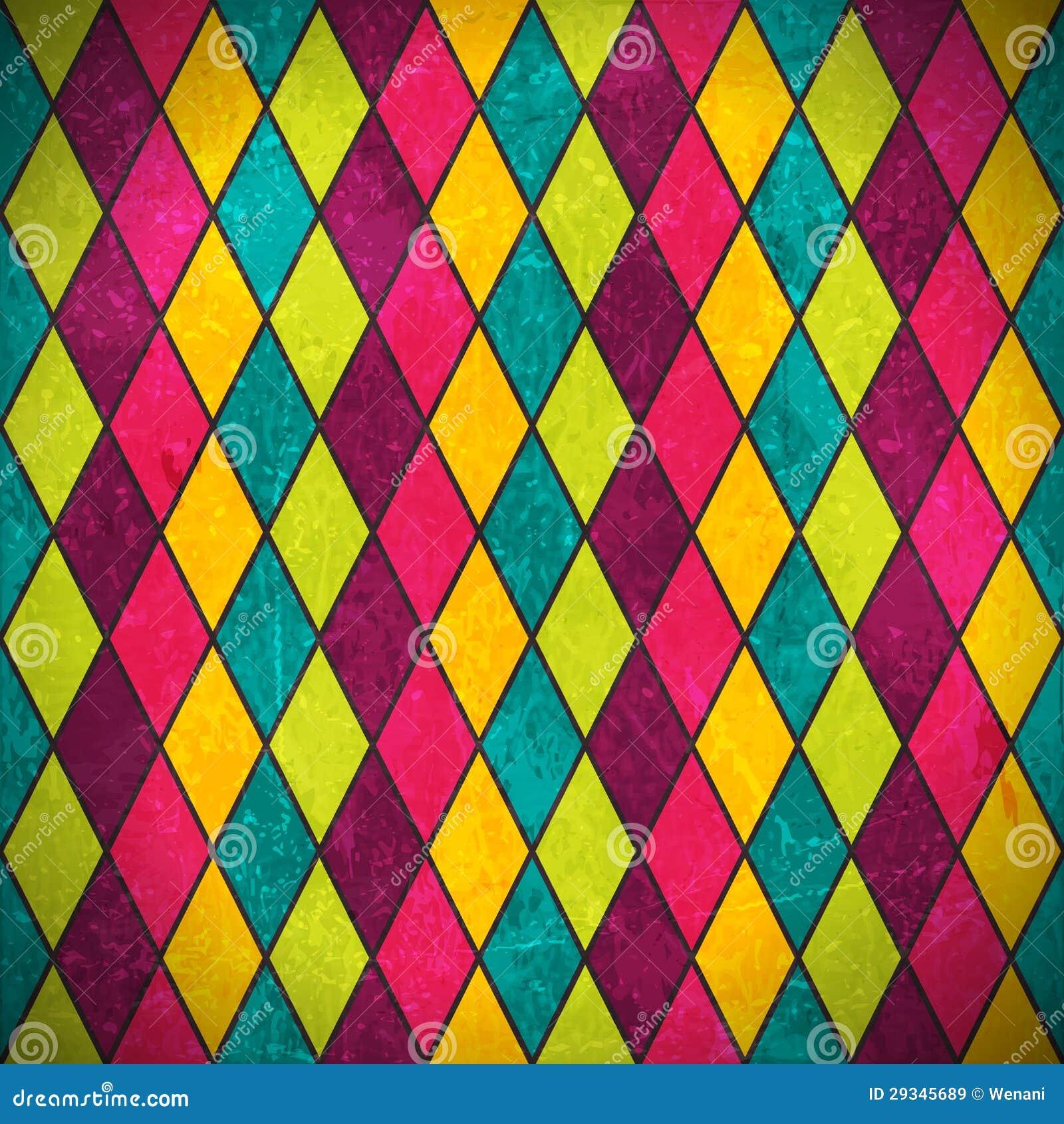 Färgrik rhombusgrungebakgrund