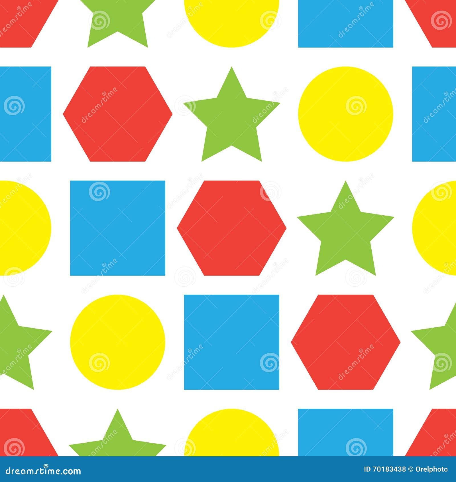 Färgrik sömlös bakgrund med geometriska former