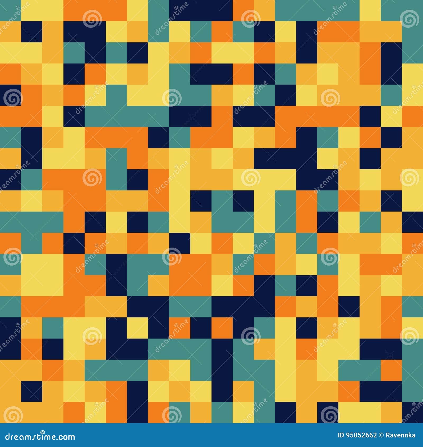 Färgrik sömlös modell i stil för PIXEL 8bit i fasta färger
