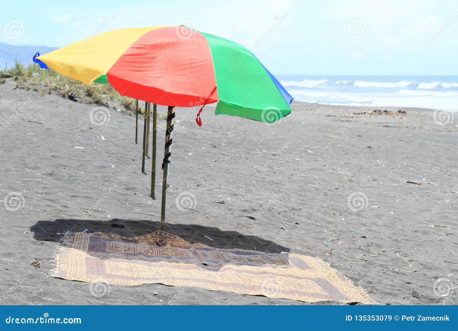 solskydd på stranden