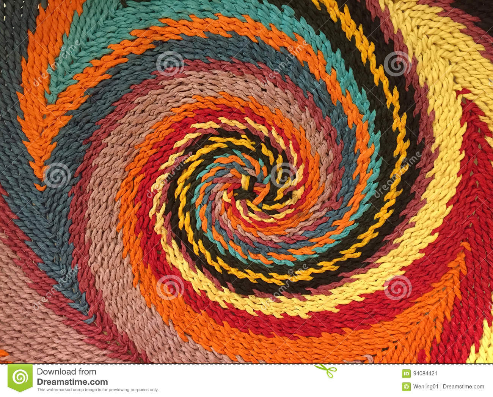 Färgrik spiral modell
