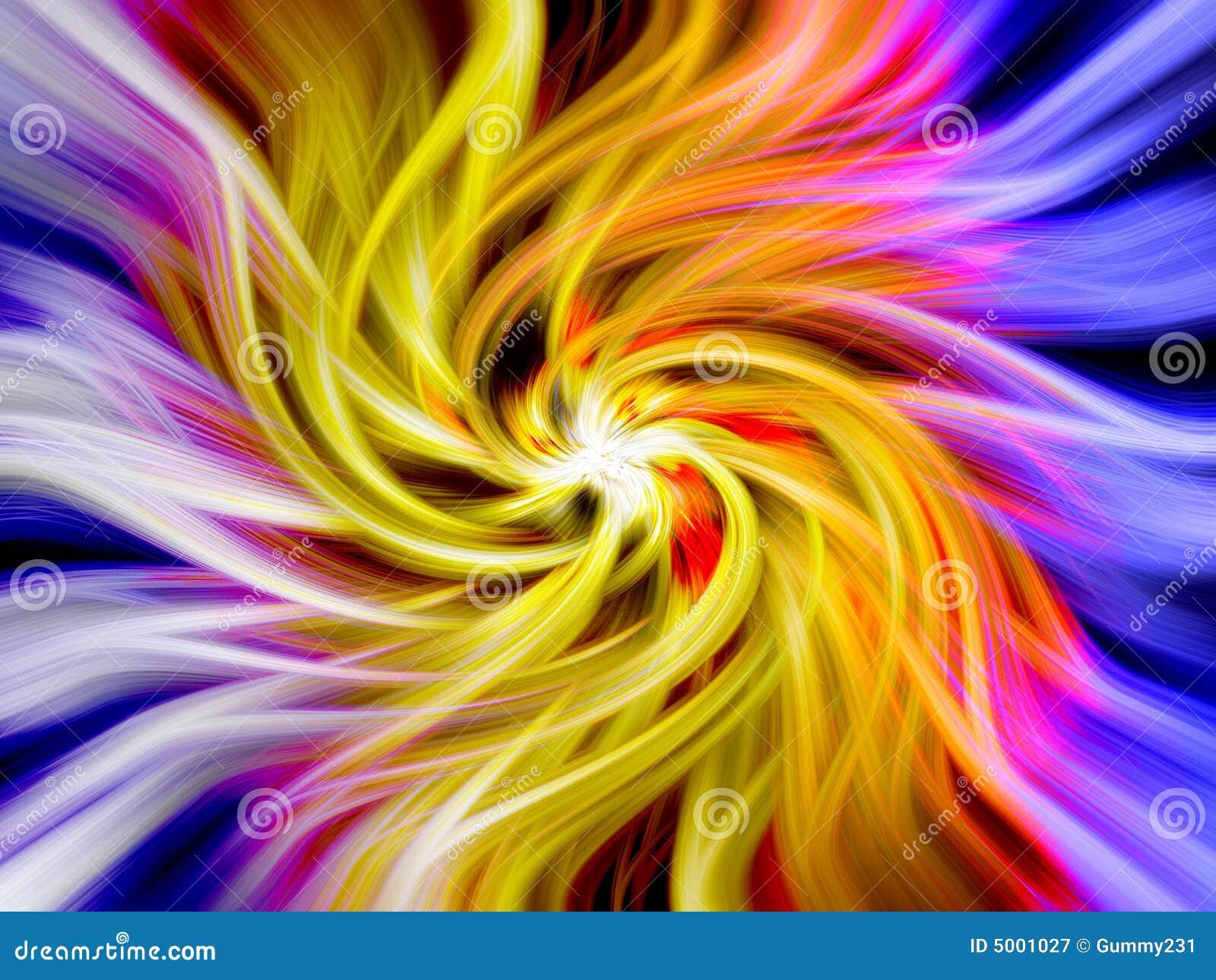 Färgrik swirl