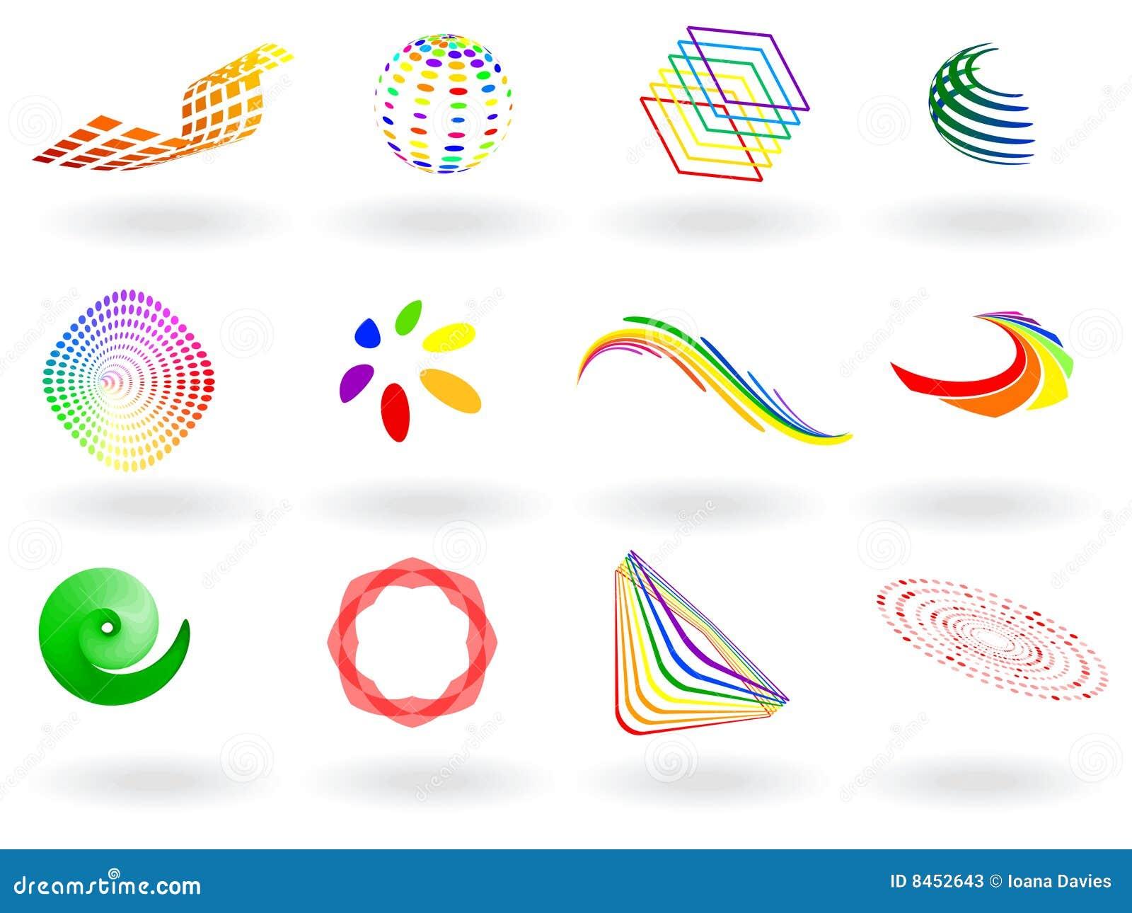 Färgrik symbolsvektor