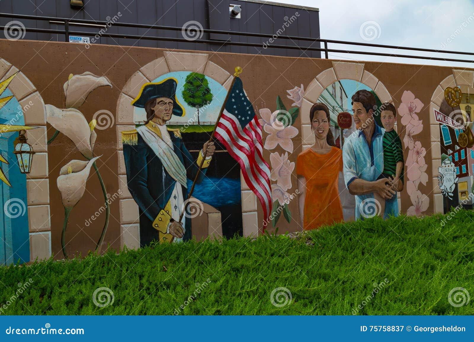 Färgrik väggmålning på BB&T-universitetet