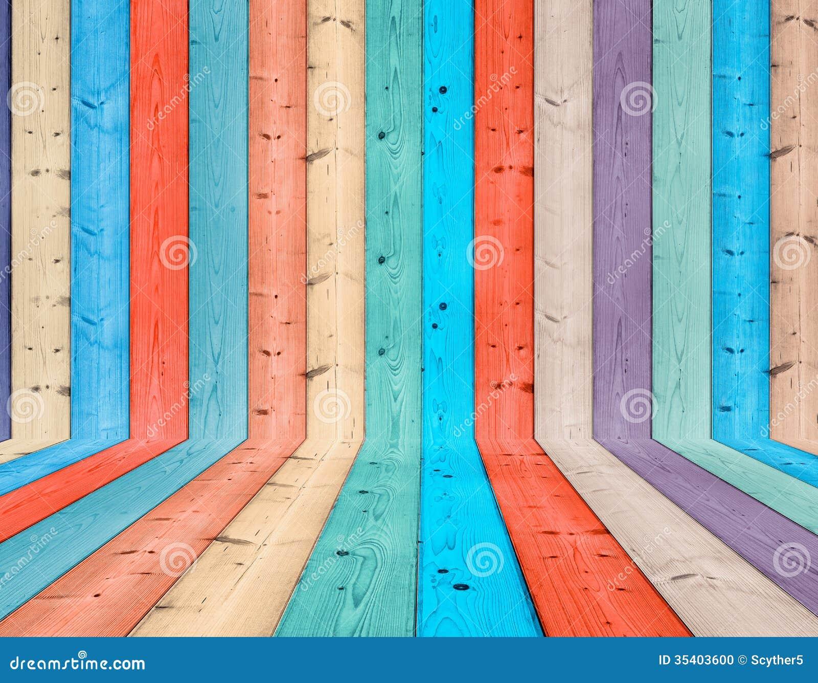 Färgrik Wood bakgrund