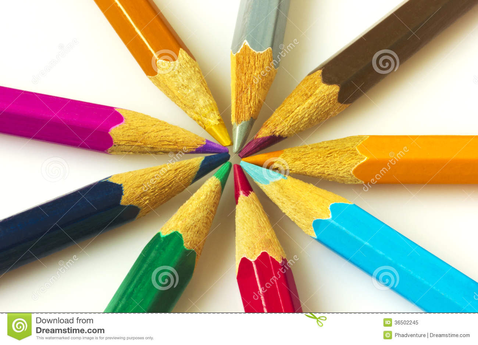 Färgrika blyertspennor