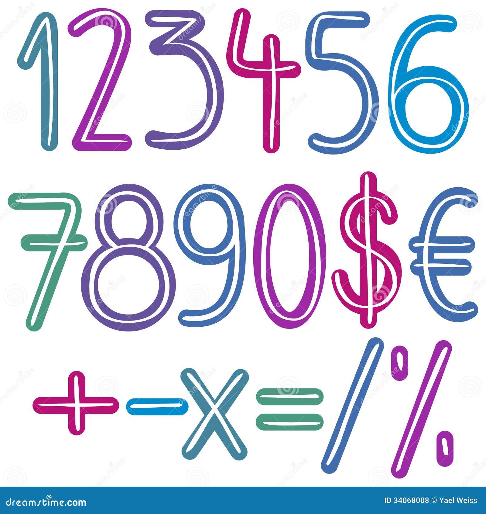 Färgrika borstenummer