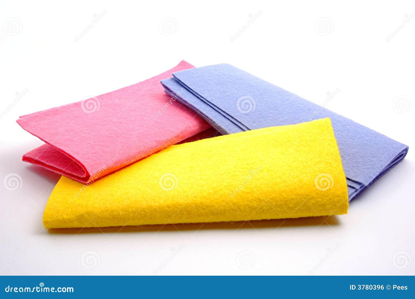 Färgrika dammtrasor